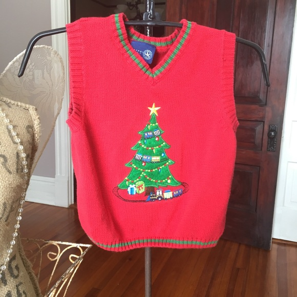 Christmas Vest.J Khaki Kids Christmas Vest 3t Euc